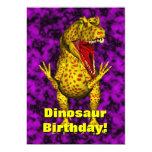 El cumpleaños del dinosaurio invita anuncios personalizados