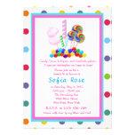 El cumpleaños del dulce 16 del tema del caramelo d comunicado personalizado