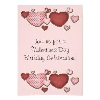El cumpleaños del el día de San Valentín de los Invitación 12,7 X 17,8 Cm