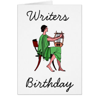 El cumpleaños del escritor tarjeta de felicitación
