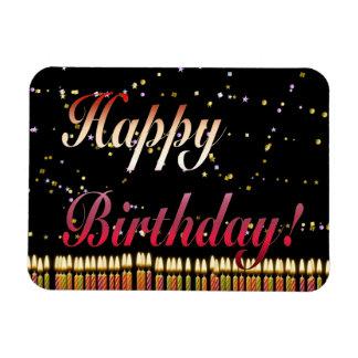 El cumpleaños del feliz cumpleaños mira al trasluz imanes flexibles