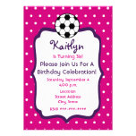 El cumpleaños del fútbol de los chicas invita a ro invitaciones personalizada