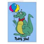 El cumpleaños del globo del cocodrilo le agradece  tarjeton
