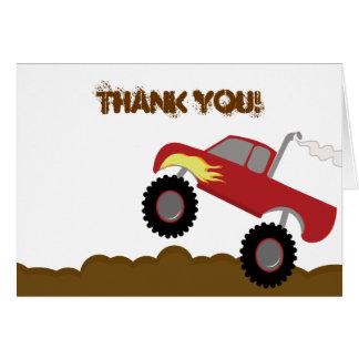 El cumpleaños del monster truck doblado le agradec tarjetas