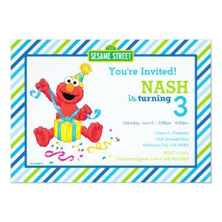 """El cumpleaños del muchacho de Elmo Invitación 5"""" X 7"""""""