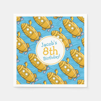 El cumpleaños del muchacho submarino amarillo servilletas desechables