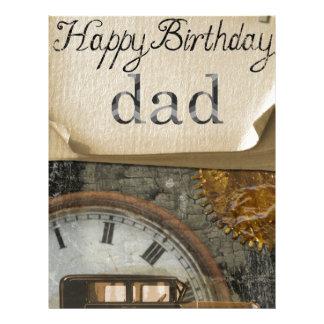 El cumpleaños del papá membrete a diseño