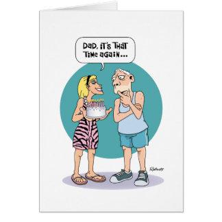 El cumpleaños del papá tarjeta