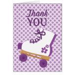El cumpleaños del patín de ruedas de los puntos de tarjeta de felicitación