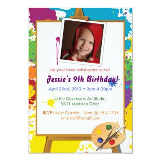 El cumpleaños del pequeño artista invitación 12,7 x 17,8 cm