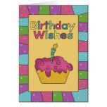 El cumpleaños desea la tarjeta de cumpleaños de la