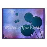El cumpleaños desea la tarjeta de felicitación