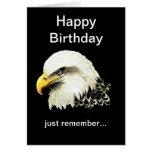El cumpleaños divertido, calvo es Eagle calvo herm Tarjetón