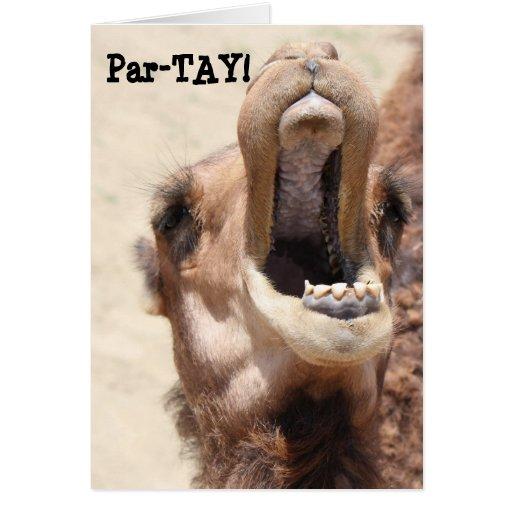 ¡El cumpleaños divertido del camello, Partay, va s Tarjeta
