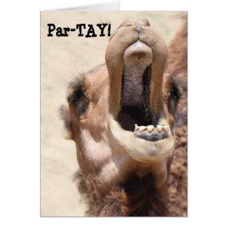 ¡El cumpleaños divertido del camello, Partay, va Tarjeta De Felicitación