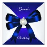 El cumpleaños elegante invita al azul real Pearl Invitacion Personal
