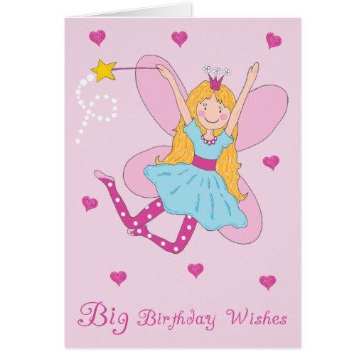 El cumpleaños grande desea la tarjeta de felicitac
