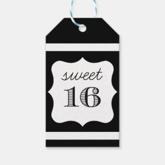 El cumpleaños intrépido y moderno del dulce 16 le etiquetas para regalos