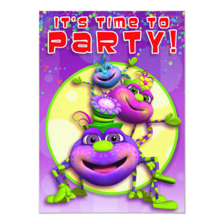 El cumpleaños Invita-Itsy a las arañas de Bitsy Invitacion Personalizada