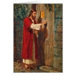 El cumpleaños Jesús golpea en la puerta Tarjetón