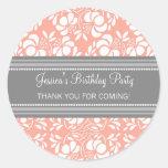 El cumpleaños le agradece las etiquetas conocidas etiquetas redondas