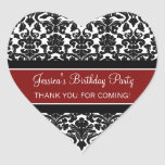 El cumpleaños le agradece las etiquetas conocidas colcomanias corazon personalizadas