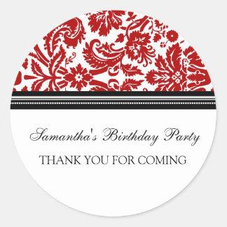 El cumpleaños le agradece las etiquetas conocidas etiqueta redonda