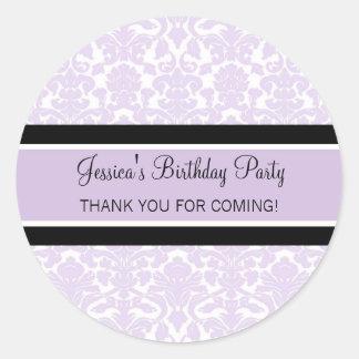 El cumpleaños le agradece lila conocida de encargo etiqueta redonda