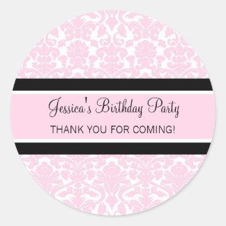 El cumpleaños le agradece rosa conocido de encargo pegatina redonda