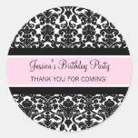 El cumpleaños le agradece rosa conocido de encargo pegatinas redondas