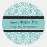 El cumpleaños le agradece trullo conocido de pegatinas redondas
