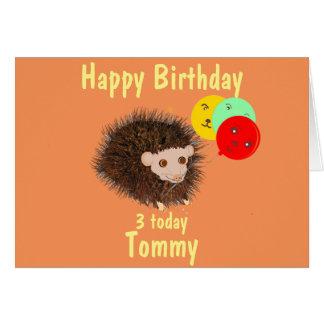 El cumpleaños lindo del erizo añade la edad felicitación