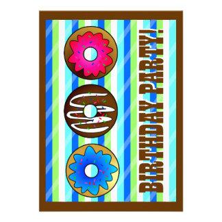 El cumpleaños lindo del fiesta del buñuelo invita  invitación personalizada
