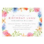 El cumpleaños Luau del paraíso invita Invitacion Personal