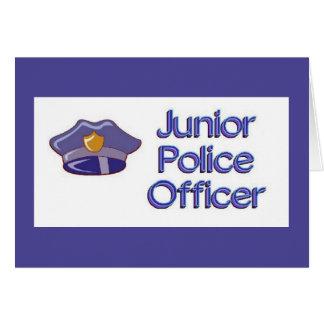 El cumpleaños menor del oficial de policía invita tarjeta pequeña