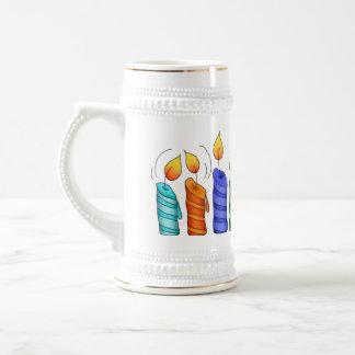 El cumpleaños mira al trasluz a Stein de cerámica Jarra De Cerveza