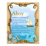 El cumpleaños náutico del azul Ahoy invita Anuncios