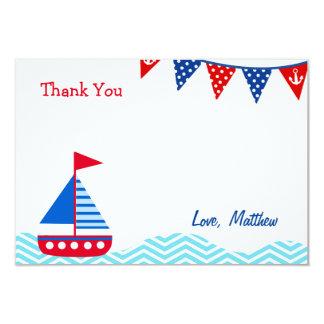 """El cumpleaños náutico del velero le agradece las invitación 3.5"""" x 5"""""""