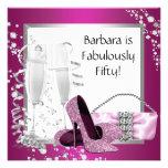 El cumpleaños negro rosado de la mujer de los taco invitacion personal
