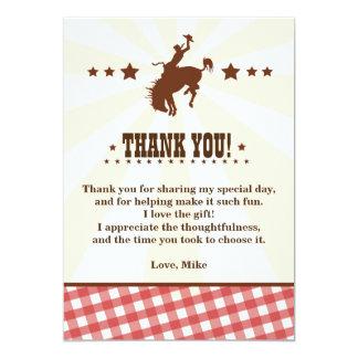 """El cumpleaños occidental del rodeo del vaquero le invitación 5"""" x 7"""""""