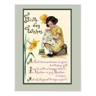 El cumpleaños pasado de moda desea la tarjeta del  tarjetas postales