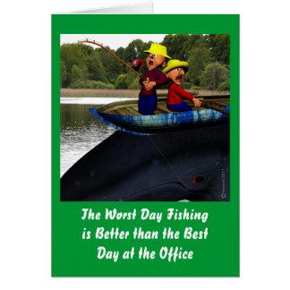 El cumpleaños peor de la pesca del día felicitación