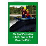El cumpleaños peor de la pesca del día tarjeta de felicitación