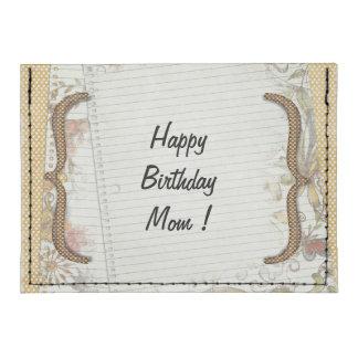 El cumpleaños personalizado florece el papel del tarjeteros tyvek®