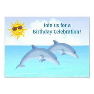 """El cumpleaños personalizado lindo de la playa de invitación 5"""" x 7"""""""