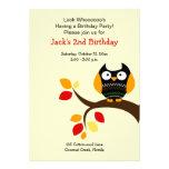 El cumpleaños poner crema del otoño del búho de Ha Comunicados Personales