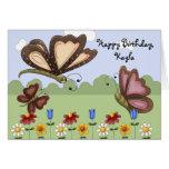 El cumpleaños popular lindo del niño de las maripo tarjeton