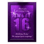 El cumpleaños púrpura del dulce 16 del brillo le a felicitacion