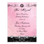 El cumpleaños rosado de Mitzvah del palo del damas Comunicados Personales