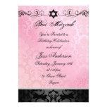 El cumpleaños rosado y negro de Mitzvah del palo d Comunicados Personales